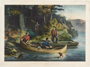 "Life In The Woods. ""Starting Out"", Currier & Ives"