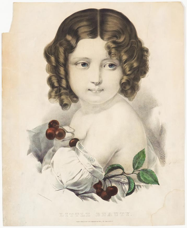 Young girl looking to right in image