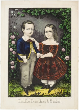 Little Brother And Sister, Currier & Ives