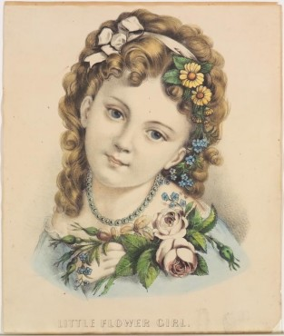 Little Flower Girl, Currier & Ives