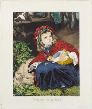 Little Red Riding Hood, Nathaniel Currier