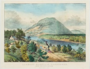 Lookout Mountain, Tennessee, And The Chattanooga Railroad, Currier & Ives