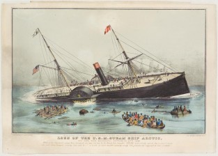 Loss Of The U.S. Steam Ship ARTIC, Nathaniel Currier