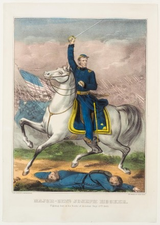 Major -Genl. Joseph Hooker (Fighting Joe) At The Battle Of Antietam Sept 17th 1862, Currier & Ives