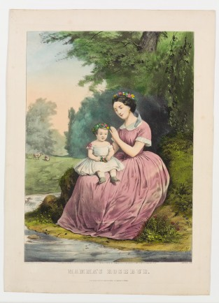 Mama's Rosebud, Currier & Ives