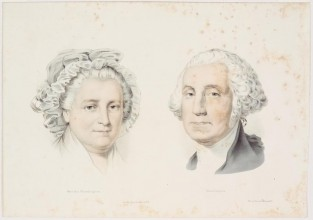 Martha Washington George Washington, Currier & Ives