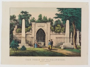 The Tomb Of Washington. Mount Vernon, VA, Currier & Ives