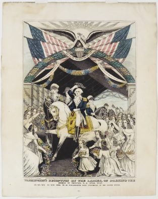 Washington's Reception By The Ladies, Nathaniel Currier