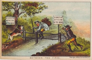 Between Two Fires, Currier & Ives