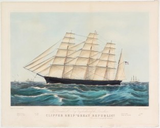 "Clipper Ship ""Great Republic"", Currier & Ives"