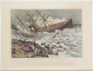 The Wreck Of The ATLANTIC, Currier & Ives