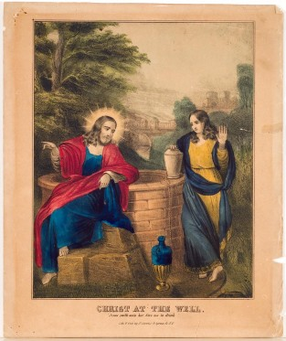 Christ At The Well, Nathaniel Currier