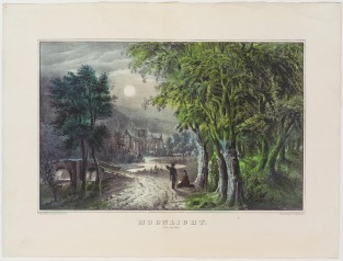 Moonlight The Ruins, Currier & Ives