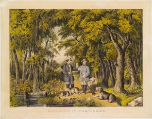 Morning In The Woods, Currier & Ives
