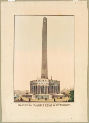 National Washington Monument In The City Of Washington, D.C., Nathaniel Currier