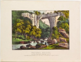 Natural Bridge. In The Blue Ridge Region, Rockbridge County, VA., Currier & Ives
