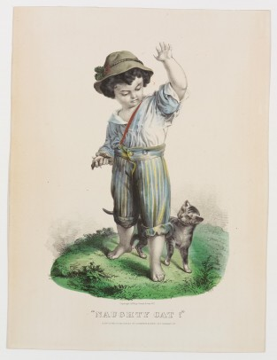 Naughty Cat!, Currier & Ives