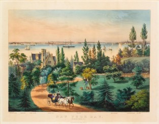 New York Bay: From Bay Ridge, L.I., Currier & Ives