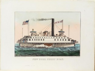 New York Ferry Boat., Currier & Ives