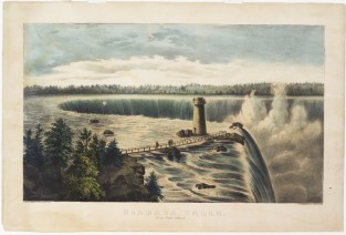 Niagara Falls, From Goat Island, Currier & Ives