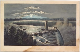 Niagara Falls – From Goat Island, Currier & Ives