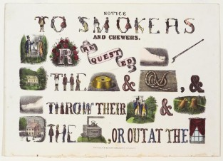 Notice To Smokers And Chewers, Currier & Ives