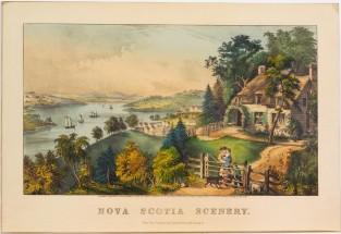 Nova Scotia Scenery, Currier & Ives