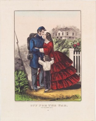 Off For The War. The Soldier's Adieu., Currier & Ives