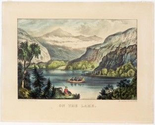 On The Lake, Currier & Ives