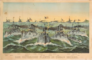 Our Victorious Fleets In Cuban Waters, Currier & Ives
