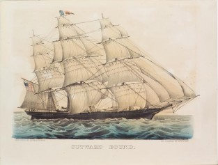 Outward Bound., Currier & Ives