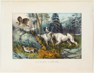 Partridge Shooting, Currier & Ives