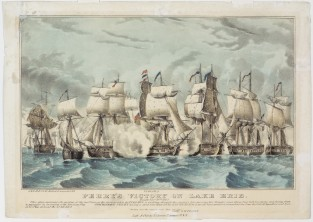 Perry's Victory On Lake Erie. Fought Sept 10th 1813, Nathaniel Currier