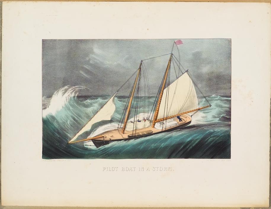 Evening stormy seascape