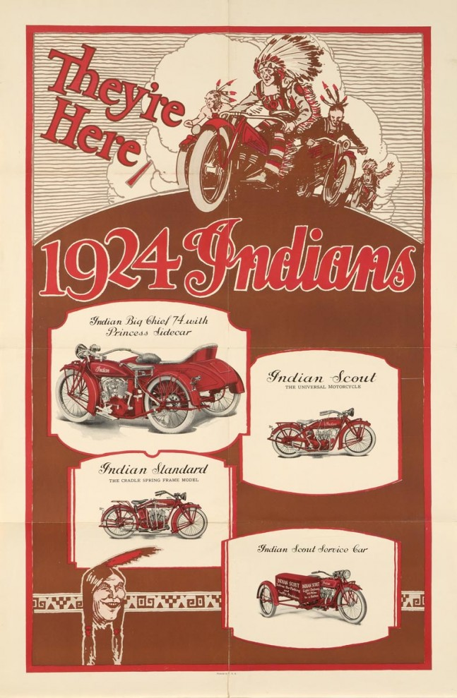 Poster: 1924 Indian Motocycles
