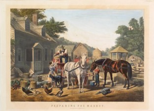 Preparing For Market, Nathaniel Currier