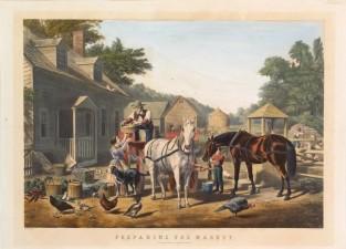 Preparing For Market, Nathaniel Currier