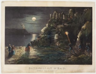 "Rathgallan Head. Scene In ""The Shaughraun"", Currier & Ives"