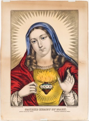 Sacred Heart Of Mary, Currier & Ives