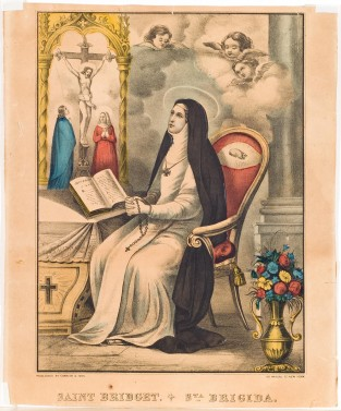 Saint Bridget. Sta. Brigida., Currier & Ives