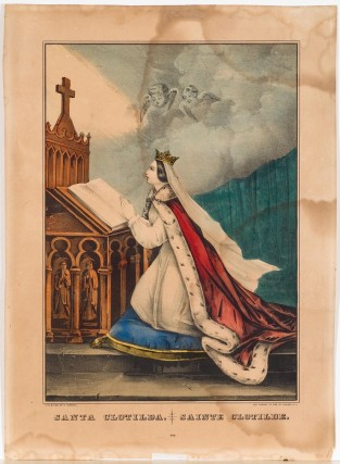 Santa Clotilda. Sainte Clotilde., Nathaniel Currier