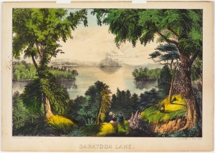 Saratoga Lake, Currier & Ives
