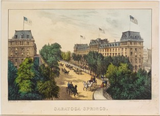Saratoga Springs, Currier & Ives