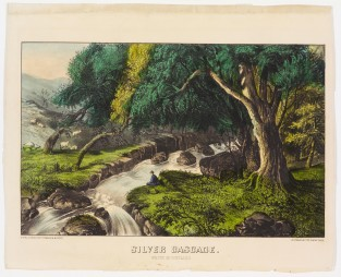 Silver Cascade White Mountains, Currier & Ives