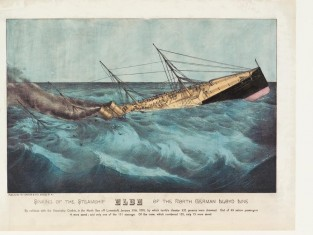 Sinking Of The Steamship ELBE Of The North German Lloyd Line, Currier & Ives