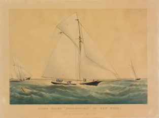 "Sloop Yacht ""POCAHONTAS"" Of New York., Currier & Ives"