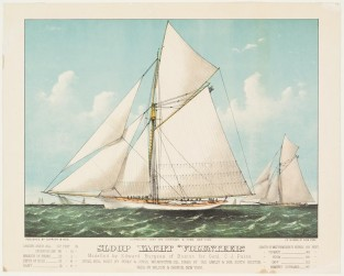 "Sloop Yacht ""VOLUNTEER"", Currier & Ives"