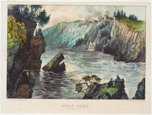 Split Rock St John River, N.B., Currier & Ives
