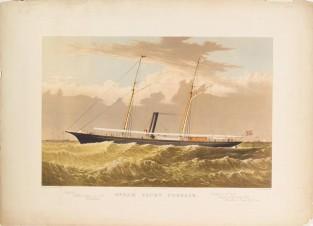 Steam Yacht CORSAIR, Currier & Ives