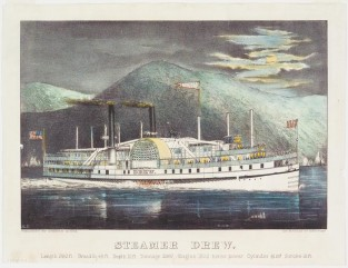 Steamer Drew, Currier & Ives